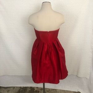 Mikael Aghal Dresses - Mikael Aghal Red Pleated Mini Dress Sz 4
